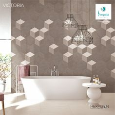 Hexagon Tiles, Tiling, Your Space, Ceramics, Room, Washroom, Ceramica, Bedroom, Pottery