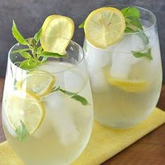 Sweet tea is out, this Lemon Basil & Ginger Iced Tea is in!