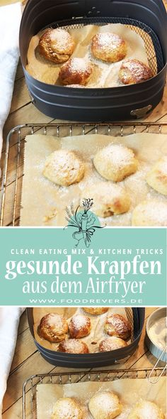 Healthy donuts airfryer and oven. Enjoy clean eating and healthy sugar-free eating. Delicious recipes quickly and easily with a hot air fryer. Healthy Donuts, Healthy Sugar, Healthy Baking, Easy Healthy Recipes, Easy Meals, Egg Recipes, Whole Food Recipes, Sugar Free Eating, White Cranberry Juice