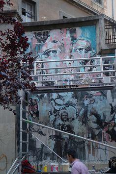 """El Muro de JIMENA en el Proyecto """"Muros"""".#ArteTabacalera Promoción del Arte #ArteUrbano #StreetArt Madrid Día 6"""