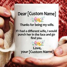 Personalized Coffee Mugs Funny Wife | Family Love Gifts