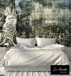 "The 'Dutch Dreams'- wallpaper collection will be continued with new designs! The breathtaking seascape ""The Journey"" is a Wall Mural that satisfy your desires for adventures and expeditions. A fleet ready to set sail and escape from your daily routine. Dream about new destinations, across the salty water, and surround yourself with floating clouds of freedom. Order information: la-aurelia.com"