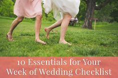 Is your big day almost here? Here is a wedding planning checklist for the final week.