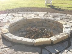 Sunken Fire Pit ~Better when you have little ones~