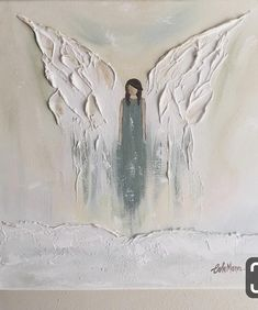 Acrylic Painting On Canvas Bird Paintings On Canvas, Cross Paintings, Acrylic Painting Canvas, Canvas Art, Angel Paintings, Angel Artwork, Angel Wings Art, Angel Wings Painting, Painting Inspiration