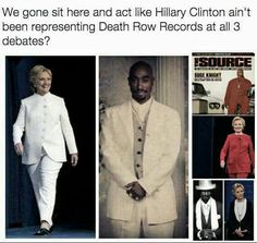 BAWHAHAHAHA!!! I knew Hillary's outfits looked familiar! #ReppinForTheRow #HillaryClinton