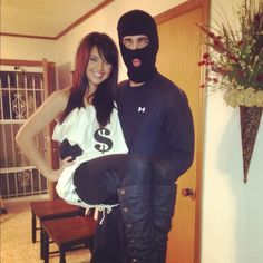Creative Halloween costumes for couples!..already like this but id make myself be made of money