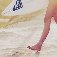 Pézinhos na areia, sempre em direção ao mar :p