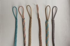 Leather Braided Pacifier Clips