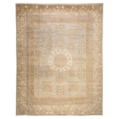 Cain French Country Brown Antique Wool Rug - 9'1 x 11'6 | Kathy Kuo Home