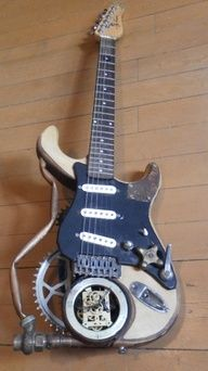 Steampunk guitar...  sorry. had to post. had to...