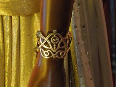 Hollywood Movie Costumes and Props: John Carter's Dejah Thoris wedding outfit and jewelry on display...