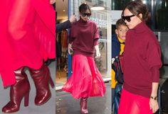 Victoria Beckham raspberry burgundy