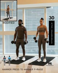 Full Body Hiit Workout, Hiit Workout At Home, Gym Workout Videos, Fitness Workout For Women, Dumbbell Workout, Yoga Fitness, Gym Workouts, Glute Exercises, Isometric Exercises