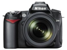 Nikon D90 12.3MP DX-Format CMOS Digital SLR Camera with 18-105 mm f/3.5-5.6G ED AF-S VR DX Nikkor Zoom Lens by Nikon. $998.00. From the Manufacturer                Fusing 12.3-megapixel image quality inherited from the award-winning D300 with groundbreaking features, the D90's breathtaking, low-noise image quality is further advanced with EXPEED image processing. Split-second shutter response and continuous shooting at up to 4.5 frames-per-second provide the power to c...