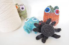 Knot By Gran'ma Free Crochet Spider Doll Pattern #Halloween #crochetpattern #spider @Marilyn McMullan @ Pulp Sushi