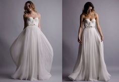 vaporoso traje de novia para el verano