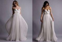 The Wedding Gown Silk Hand Gathered Bustier Gown by reddoll - wanelo (wedding dress)
