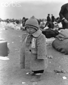 Japanese Refugee Child Returning to Japan After World War II - NA012495 - Rights Managed - Stock Photo - Corbis