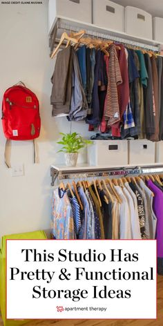 This bold, colorful Bronx studio has tons of pretty and functional storage ideas. Apartment Layout, Bedroom Apartment, Apartment Living, Apartment Therapy, Decorate Apartment, Apartment Interior, Apartment Ideas, Living Room, Small Studio Apartments