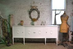 Items similar to Painted Cottage Chic Shabby French Provincial Buffet / Sideboard / Server on Etsy Painted Cottage, Shabby Cottage, Cottage Chic, Shabby Chic, Boudoir, Mid Century Buffet, Rococo Furniture, Bedroom Furniture, Antique Armoire