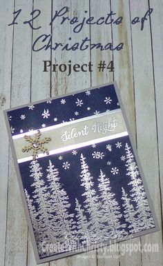 Silvery Christmas Trees by StampinChristy - Cards and Paper Crafts at Splitcoaststampers