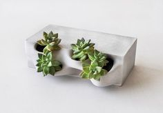 printed concrete bricks ready to grow in… Emerging Objects' Planter Brick. printed concrete bricks ready to grow in! Concrete Bricks, Concrete Art, Concrete Design, Concrete Planters, Concrete Projects, Printed Concrete, Brick Planter, Planter Bench, 3d Printed Objects