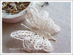 crochet butterfly I - chart is in the next pin - *mare* ka-ša: Rezultati pretraživanja za leptiri Crochet Diy, Beau Crochet, Crochet Gratis, Crochet Motifs, Thread Crochet, Irish Crochet, Crochet Doilies, Crochet Flowers, Crochet Patterns