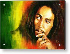 Bob Marley Acrylic Prints - Bob Marley Acrylic Print by Cool Canvas