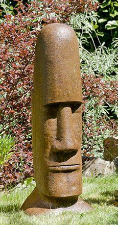 Concrete Easter Island megalith statue for garden or outdoor patio. Sculpture Head, Concrete Sculpture, Driftwood Sculpture, Sculptures, Wood Carving Designs, Wood Carving Patterns, Wood Carving Art, Wood Art, Tiki Statues