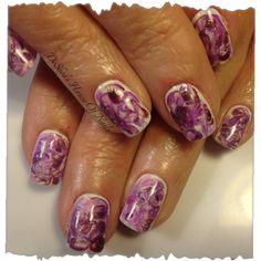 marble shellac nails