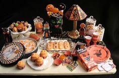 Dollhouse Miniatures Clay Halloween Chocolate Sheet Cake Fancy Night Festival 6