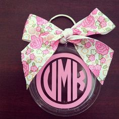 Personalized Bow Keychain. Circle Monogram by SouthernCotton, $8.00