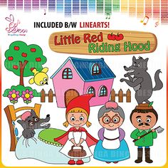 Little Red Riding Hood Clipart by Ringa Dinga Design