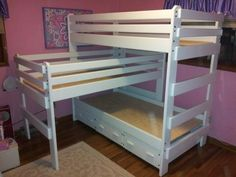 Specialty Beds Bunk Bed With Trundle, Bunk Beds, Captains Bed, Triple Bunk, Cribs, Loft, Furniture, Home Decor, Cots