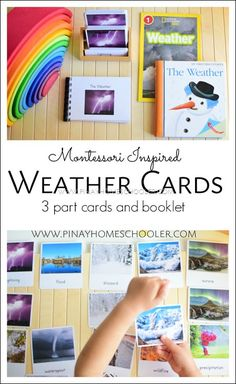 Weather 3 part cards and activities