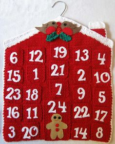 Crochet advent calendar by Clare Collier. Ravelry.
