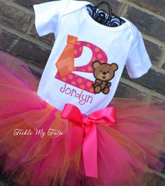 Tutus Ties and Teddy Bears Birthday Party Tutu Outfit-Tutus