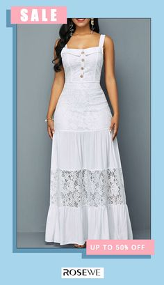 Ships within 24 hours & Women fashion casual white maxi dress for spring summer 2020 - Bemailler White Maxi Dresses, Modest Dresses, Cute Dresses, Latest African Fashion Dresses, Women's Fashion Dresses, Korean Fashion, Maxi Robes, Classy Dress, African Dress