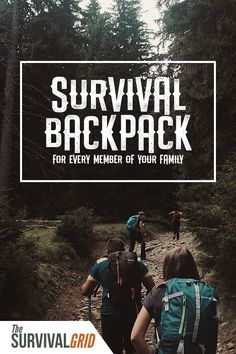 Survival backpacks are must haves for any prepper or emergency planning. Check out how to set up a survival backpack for every member of your family. Survival Food, Outdoor Survival, Survival Prepping, Survival Skills, Emergency Planning, Survival Quotes, Emergency Supplies, Urban Survival, Survival Gadgets