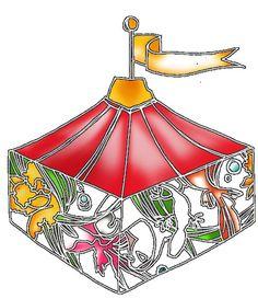 hako  a show tent. - white