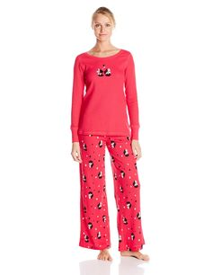 f90da61638 Hue Sleepwear Women s Classy Scotty Thermal Pajama Set  Hue classy scotty  thermal pajamas feature scotty motif pants with an elastic waistband and  matching ...