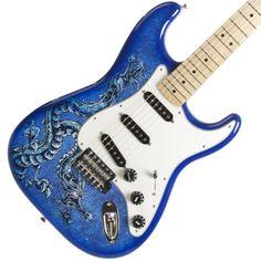 Fender Lozeau Standard Strat Dragon Art Guitar | Available at Garrett Park Guitars | www.gpguitars.com