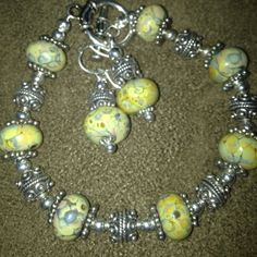 Raku glass beads!