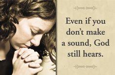 ~He hears