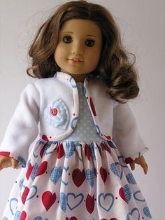 Valentines Day Outfit for 18 Inch Doll by blinkersoh on Etsy, $18.00
