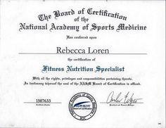NASM Fitness Nutrition Specialist