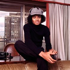 Michael Jackson posing in New York in 1974. (Photo by Michael Putland/Getty Images)