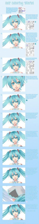 Hair Colouring Tutorial by Pockicchi.deviantart.com on @DeviantArt