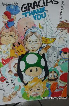 #thankyouiwata #thakyouiwatasan #weunderstand #nintendo My brother draw this lovely piece and ask me to put color on it.  Thank you  Mr. #satoru_iwata! この作品貢として私をインクとカラーをさせた弟が描いてみました。 メキシコ人にも幼いころ守ってくれたのIwataさん心から感謝しております。ありがとうございました。 Full version: Facebook.com/nyonyoteam #任天堂 #にんてんどう #コピックスケッチ #コピックマーカー #コピック #copic #copicmarkers